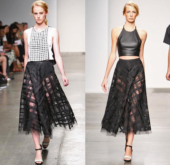 Sachin   Babi 2014 Spring Summer Womens Runway Collection   New York  Fashion Week   Crop. Sachin   Babi 2014 Spring Summer Womens Runway   Denim Jeans