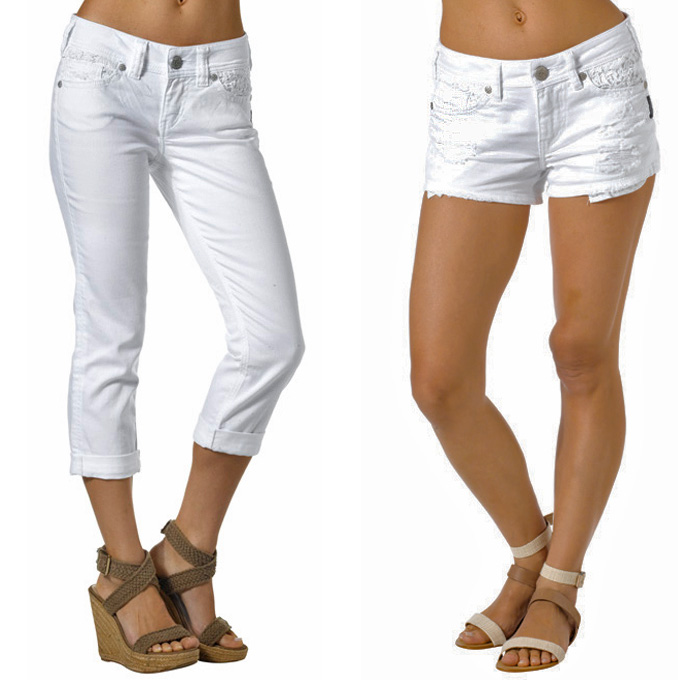 White Capris For Women
