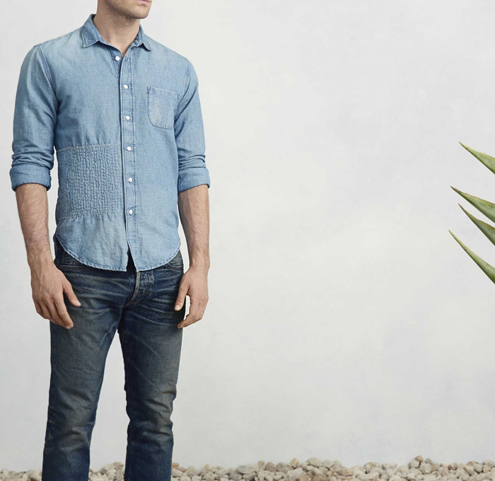 Simon Miller 2014 Spring Summer Mens Collection - Retro Faded Raw Dry Selvedge Denim Jeans Trucker Jacket Tie-Dye Acid Wash Minimal Looks Fashion: Designer Denim Jeans Fashion: Season Collections, Runways, Lookbooks and Linesheets