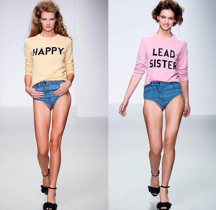 Summer womens denim jeans fashion week runway catwalks fashion