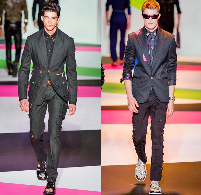 Versace 2014 Spring Summer Mens Runway Denim Jeans