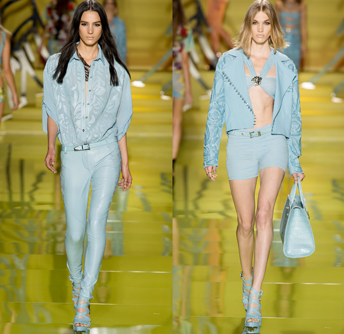 Versace 2014 Spring Summer Womens Show Denim Jeans