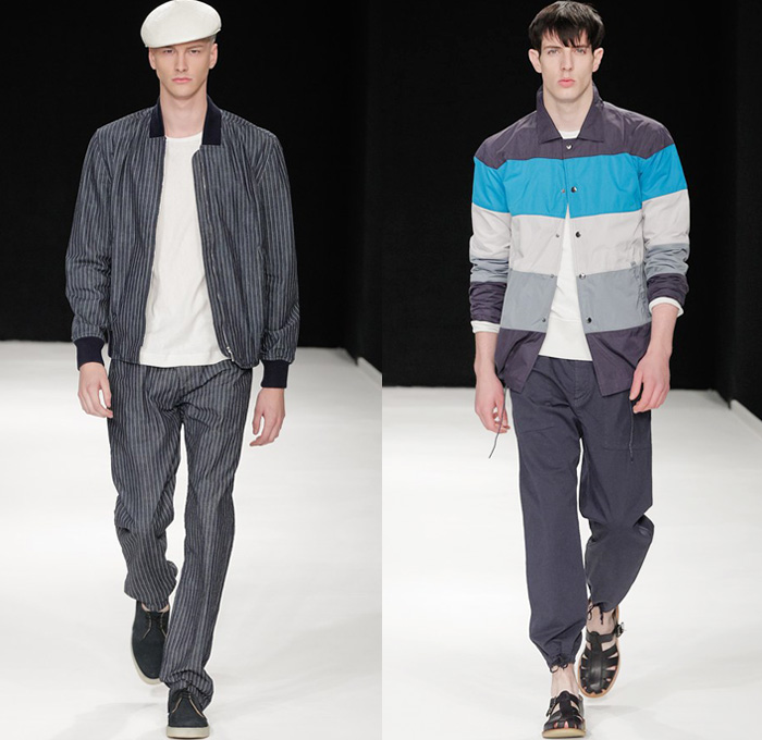 YMC 2014 Spring Summer Mens Runway - London Collections Men You Must Create Fashion Show Catwalk: Designer Denim Jeans Fashion: Season Collections, Runways, Lookbooks and Linesheets