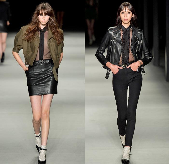 Saint Laurent 2014 Spring Summer Womens | Denim Jeans Fashion Week Runway Catwalks Fashion ...