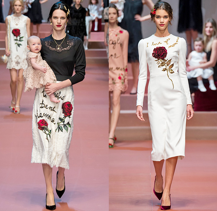e0762cf5bd1 Dolce + Gabbana 2015-2016 Fall Autumn Winter Womens Runway Catwalk Looks -  Milano Moda