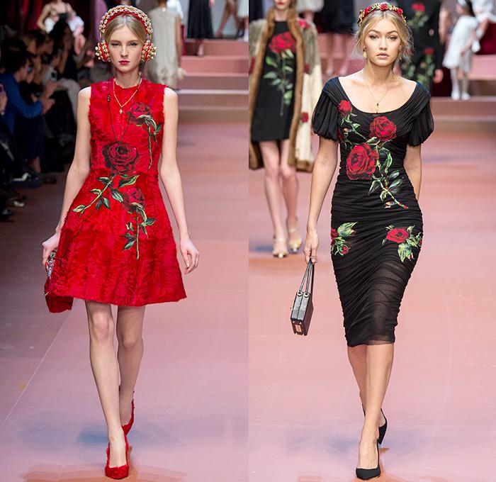 16c7056dd56 Dolce + Gabbana 2015-2016 Fall Autumn Winter Womens Runway Catwalk Looks -  Milano Moda