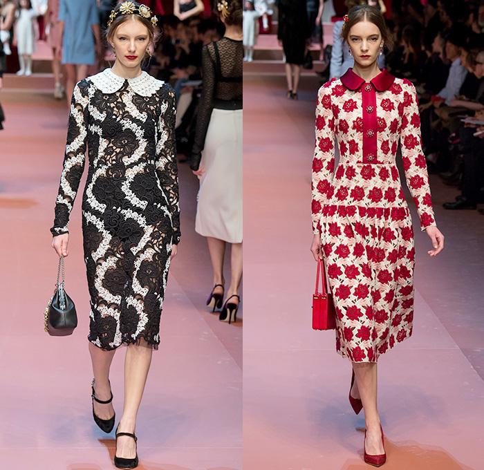 f29ea01fdd68 Dolce + Gabbana 2015-2016 Fall Autumn Winter Womens Runway Catwalk Looks - Milano  Moda