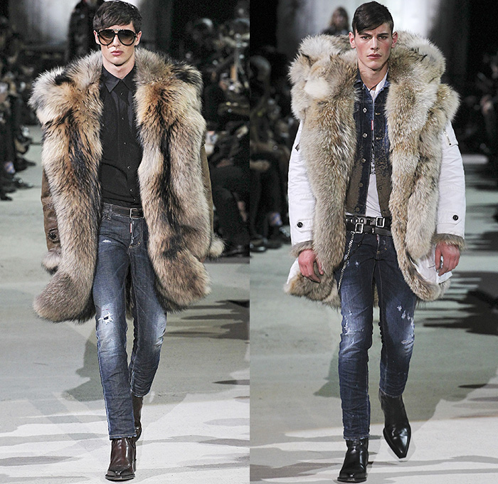 Dsquared2 2015-2016 Fall Autumn Winter Mens Runway Catwalk Looks - Milano  Moda Uomo Collezione 8d02b71937eb