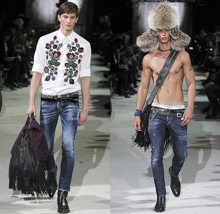 Dsquared2 2015 2016 Fall Autumn Winter Mens Runway Denim
