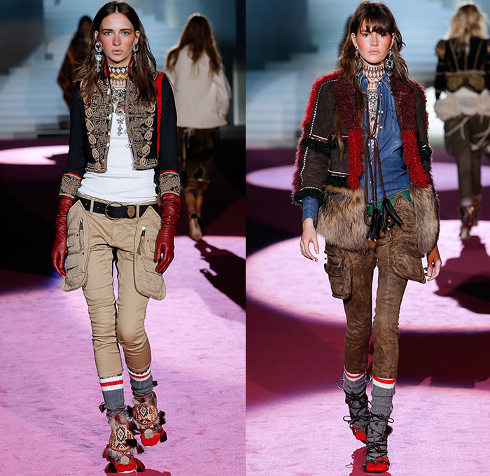 Dsquared2 2015 2016 Fall Autumn Winter Womens Runway Denim Jeans Fashion Week Runway Catwalks