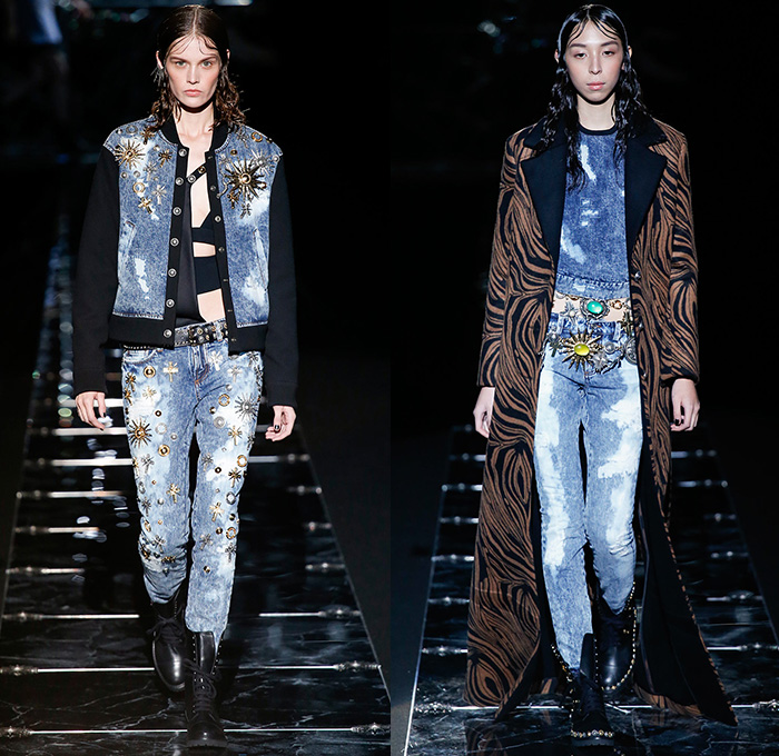 Fausto Puglisi 2015 2016 Fall Autumn Winter Womens Runway Denim Jeans Fashion Week Runway