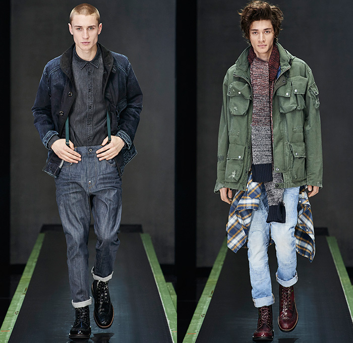Biker Vest Patches >> G-Star RAW 2015-2016 Fall Autumn Winter Mens Runway Looks | Denim Jeans Fashion Week Runway ...