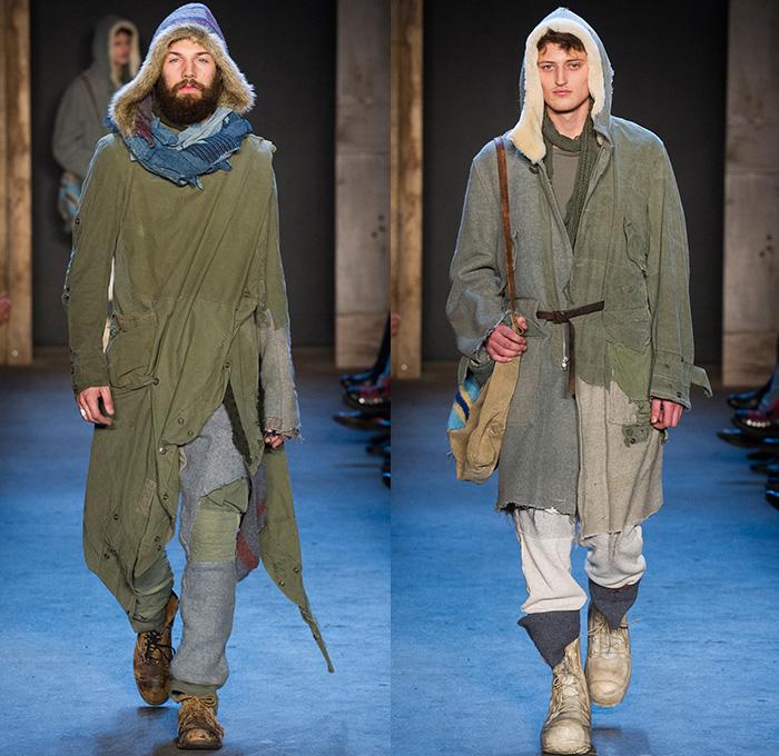 Greg Lauren 2015 2016 Fall Autumn Winter Mens Runway Denim Jeans Fashion Week Runway Catwalks