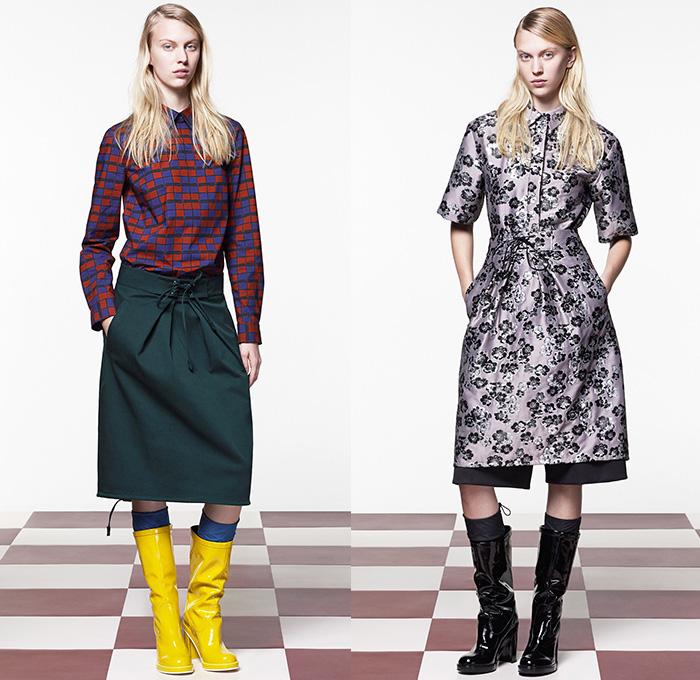 Jil Sander Navy 2015 2016 Fall Autumn Winter Womens Looks Denim Jeans Fashion Week Runway