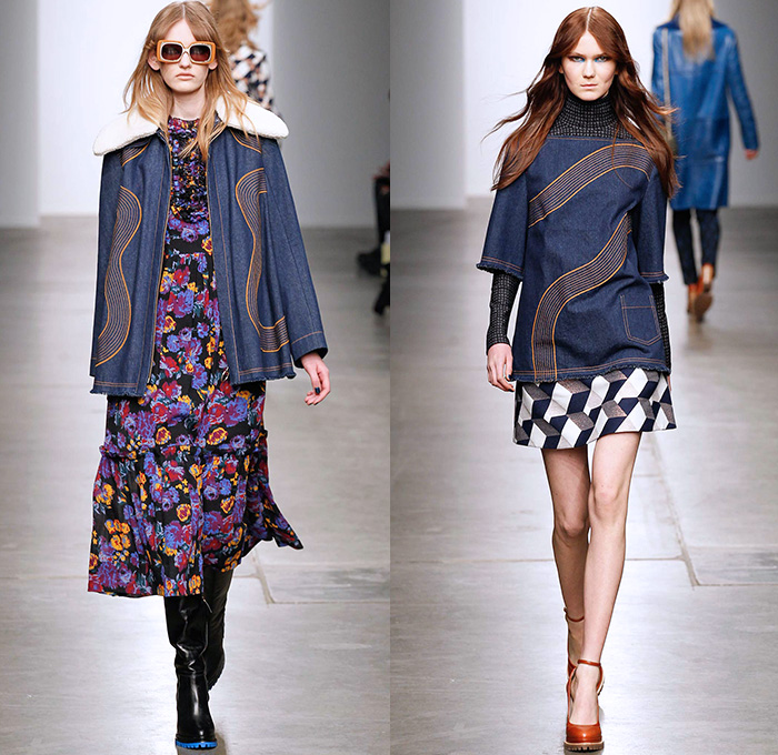 Karen Walker 2015 2016 Fall Autumn Winter Womens Runway Denim Jeans Fashion Week Runway