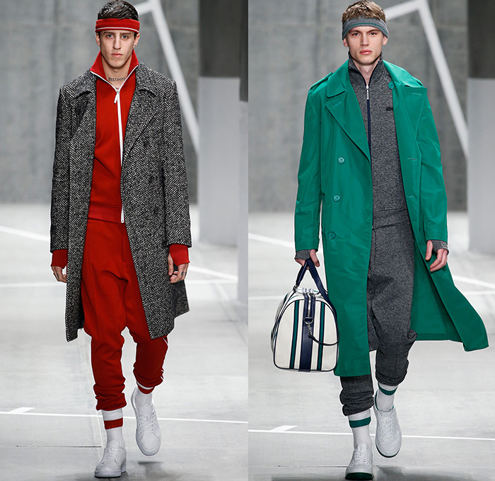 Lacoste 2015 2016 fall autumn winter mens runway denim for Mercedes benz tracksuit