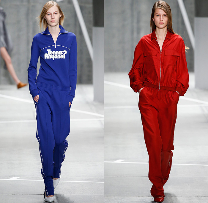 Lacoste 2015 2016 fall autumn winter womens runway denim for Mercedes benz tracksuit