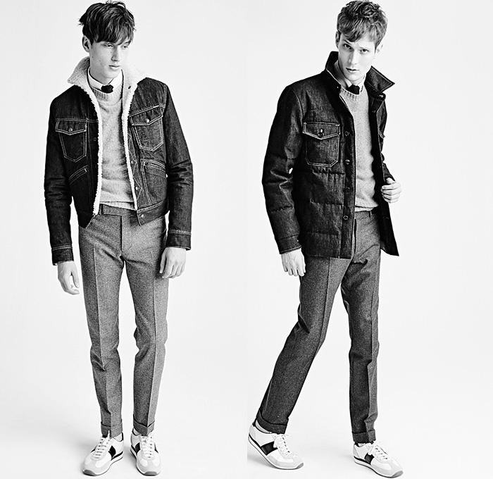 Tom ford 2015 2016 fall autumn winter mens looks presentation denim jeans fashion week runway Fashion week 2015 men s hairstyle