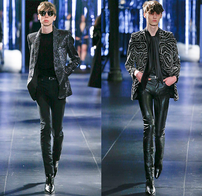 Summer Motorcycle Jacket >> Saint Laurent 2015-2016 Fall Autumn Winter Mens Runway | Denim Jeans Fashion Week Runway ...