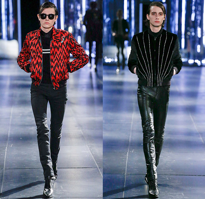 Saint Laurent 2015 2016 Fall Autumn Winter Mens Runway Denim Jeans Fashion Week Runway