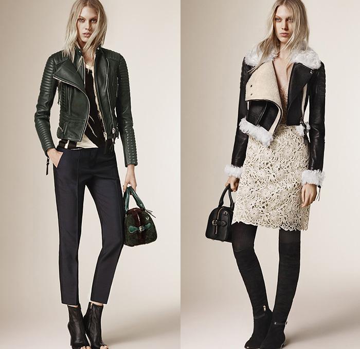Burberry Prorsum 2015 Pre Fall Autumn Womens Looks Denim Jeans Fashion Week Runway Catwalks