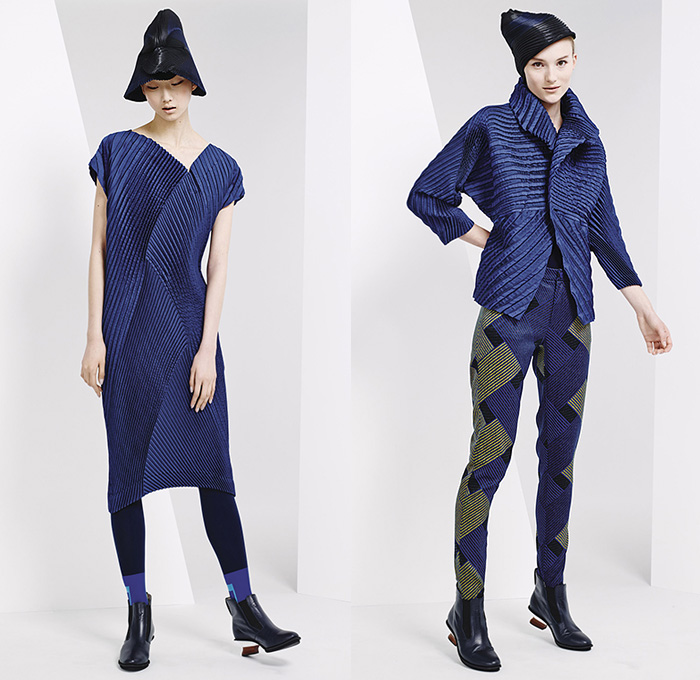 Issey Miyake 2015 Pre Fall Autumn Womens Lookbook Presentation Denim Jeans Fashion Week Runway