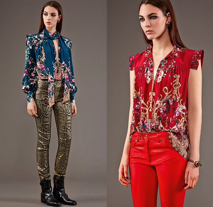 Roberto Cavalli 2015 Pre Fall Autumn Womens Lookbook Presentation - Jeans  Rock n Roll Baroque Snake