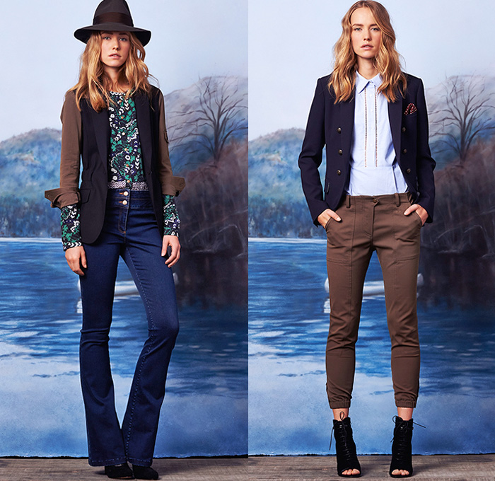 Veronica Beard 2015 Pre Fall Autumn Womens Lookbook Denim Jeans Fashion Week Runway Catwalks