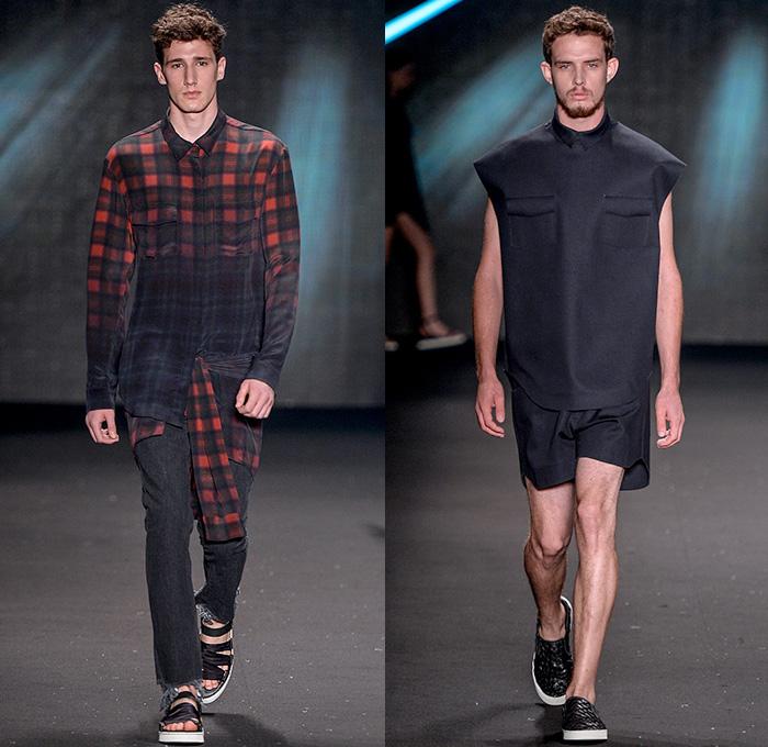 Osklen 2015 Winter Mens Runway Denim Jeans Fashion Week