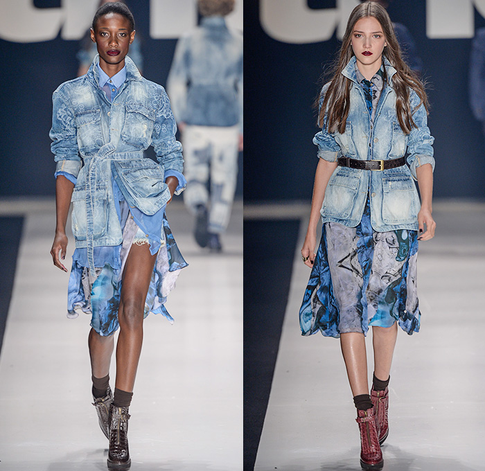Tng 2015 Winter Womens Runway Denim Jeans Fashion Week