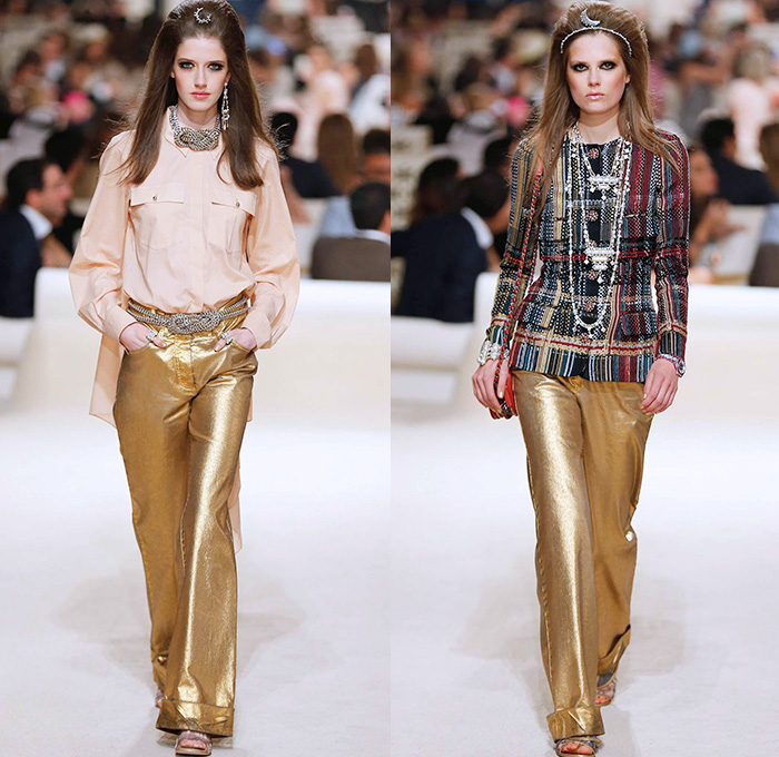 Chanel 2015 Cruise Womens Runway Collection Denim Jeans Fashion Week Runway Catwalks Fashion