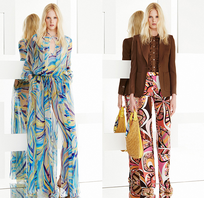Emilio Pucci conducts their 2015 Resort Womens Lookbook Presentation