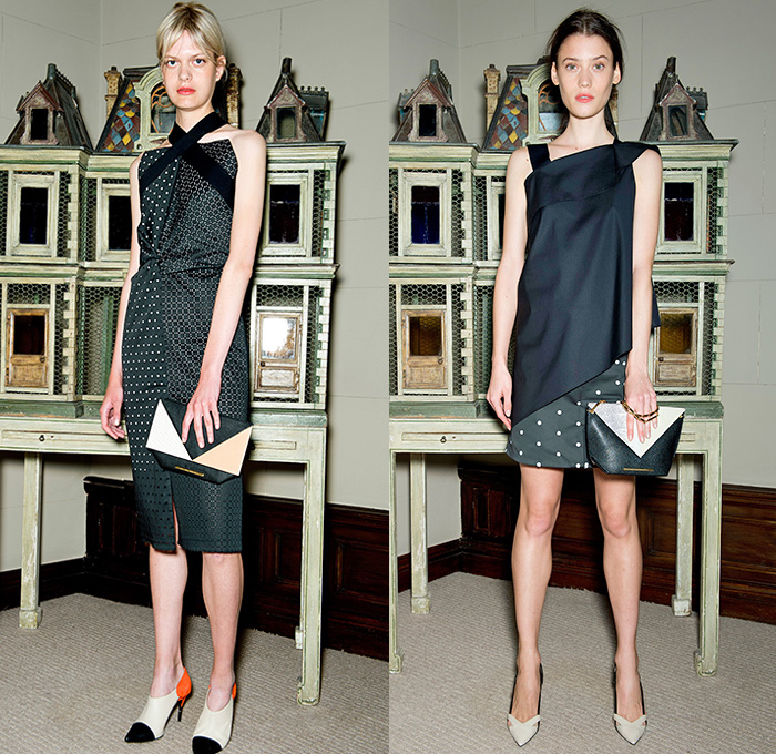 Roland Mouret 2015 Resort Womens Lookbook Presentation Denim Jeans Fashion Week Runway