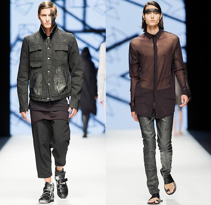 Mens Coated Black Jeans