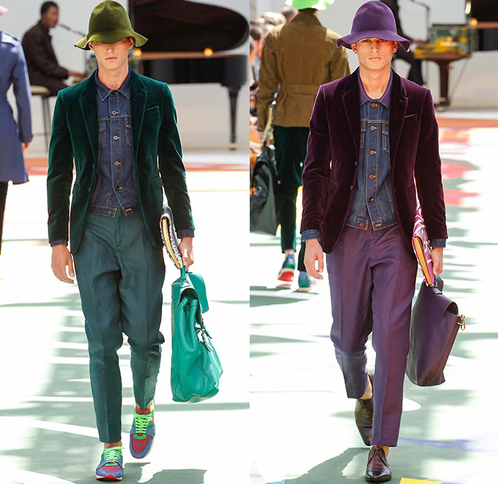 Burberry Prorsum conducts their 2015 Spring Summer Mens Runway Looks    Burberry Scarf Men Suit