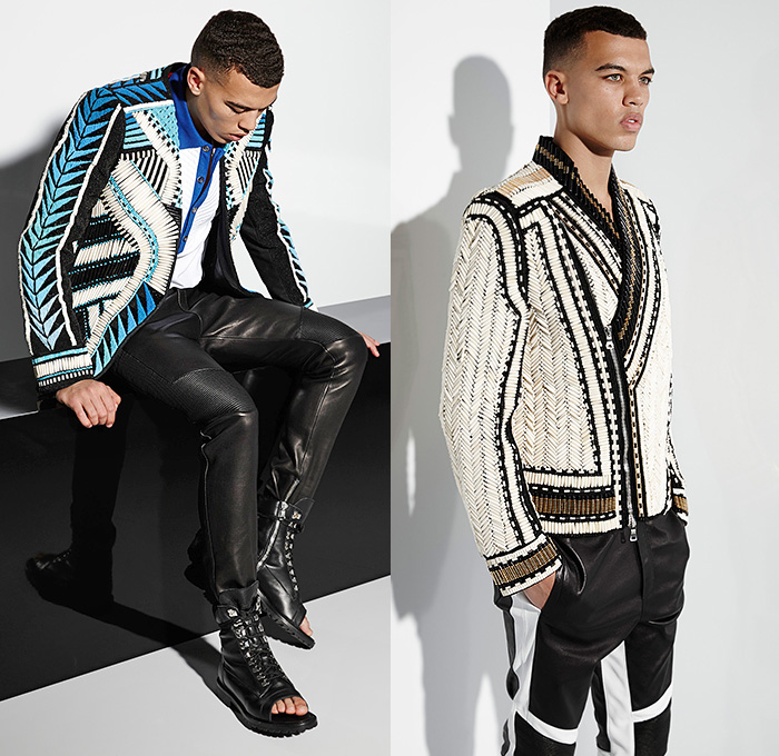 Balmain 2015 Spring Summer Mens Looks Denim Jeans Fashion Week Runway Catwalks Fashion Shows