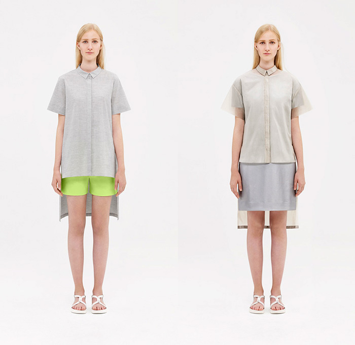 c5325cdbf7e5 COS 2015 Spring Summer Womens Lookbook Presentation - Collection of Style  Sweden - Shirtdress Dovetail Shorts
