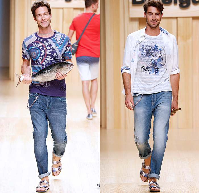 Desigual 2015 Spring Summer Mens Runway Denim Jeans