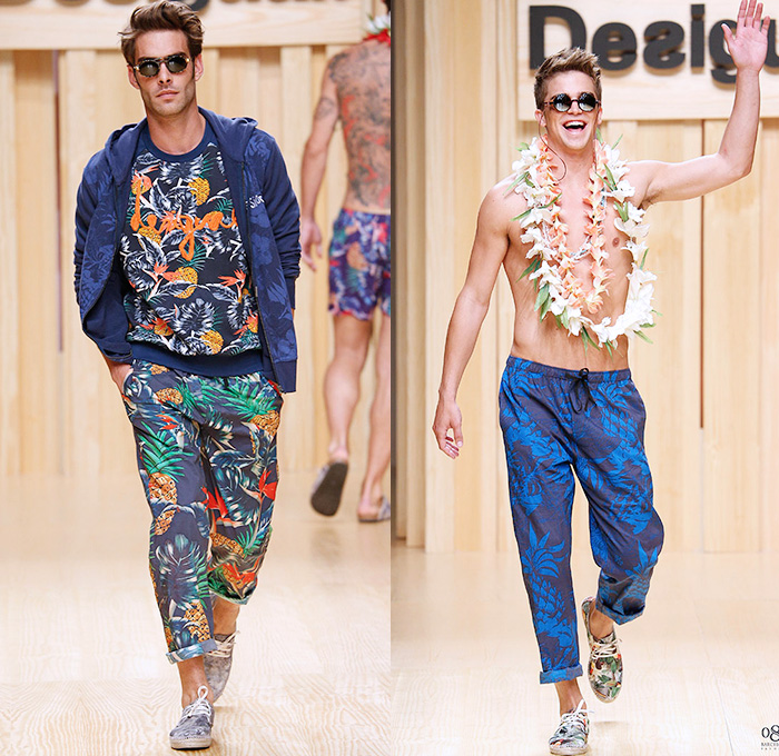 Desigual 2015 Spring Summer Mens Runway Denim Jeans