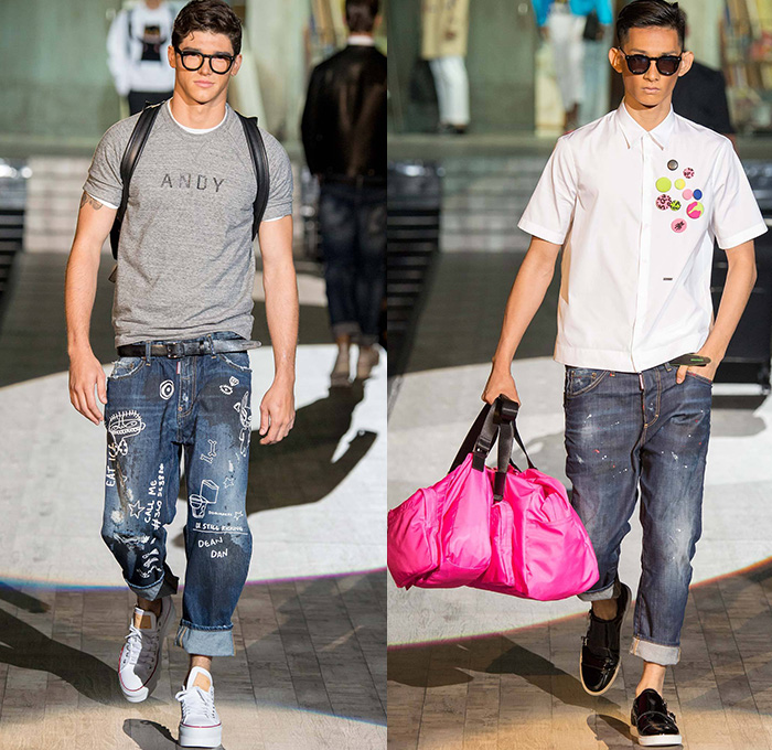 Dsquared2 2015 Spring Summer Mens Runway Denim Jeans