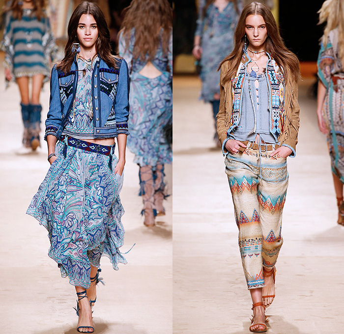 Etro 2015 Spring Summer Womens Looks Denim Jeans Fashion