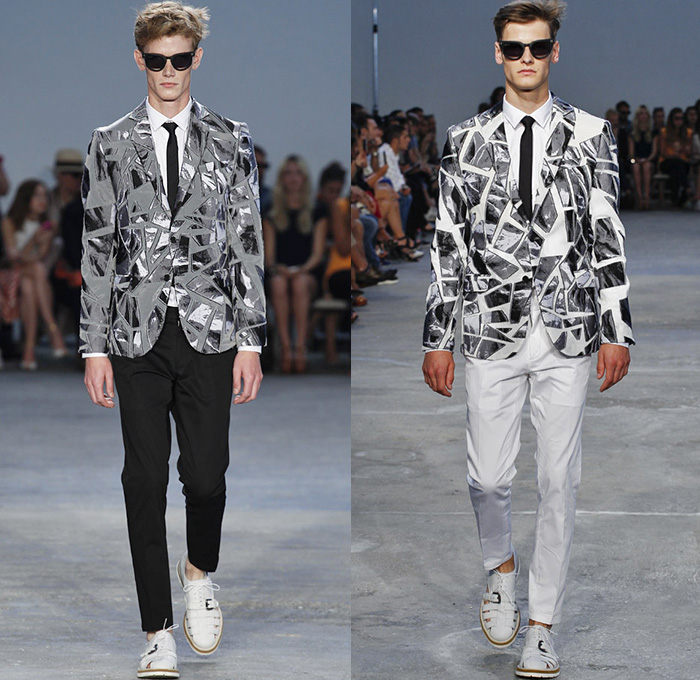 Frankie Morello 2015 Spring Summer Mens Runway Looks Denim Jeans Fashion Week Runway Catwalks