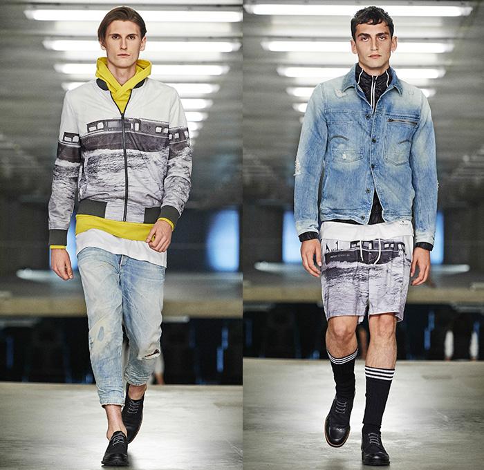 d066996d9284 G-Star RAW Amsterdam 2015 Spring Summer Mens Runway Catwalk Looks - Denim  Jeans Bomber