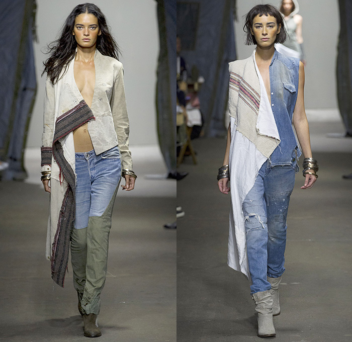 Greg Lauren 2015 Spring Summer Womens Runway Denim Jeans