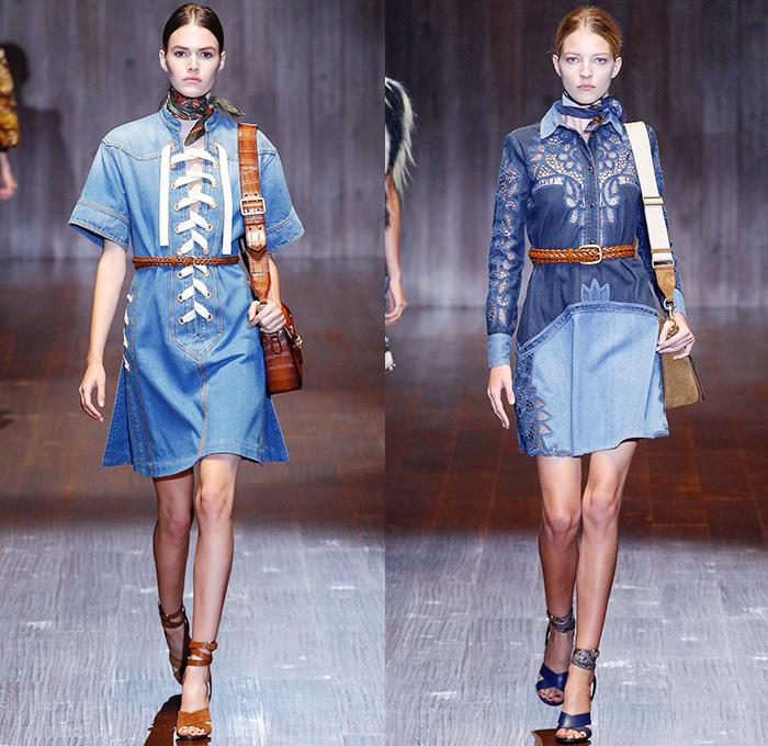 Gucci 2015 Spring Summer Womens Runway Denim Jeans