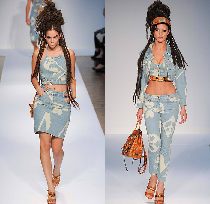 2017 ss fashion forecast - Moschino 2015 Spring Summer Womens Runway Denim Jeans