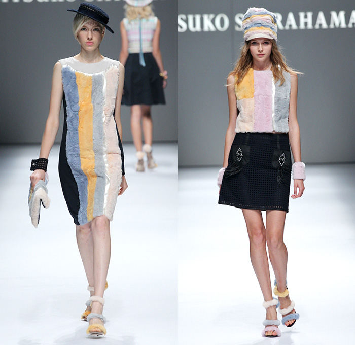Ritsuko Shirahama 2015 Spring Summer Womens Runway Denim Jeans Fashion Week Runway Catwalks