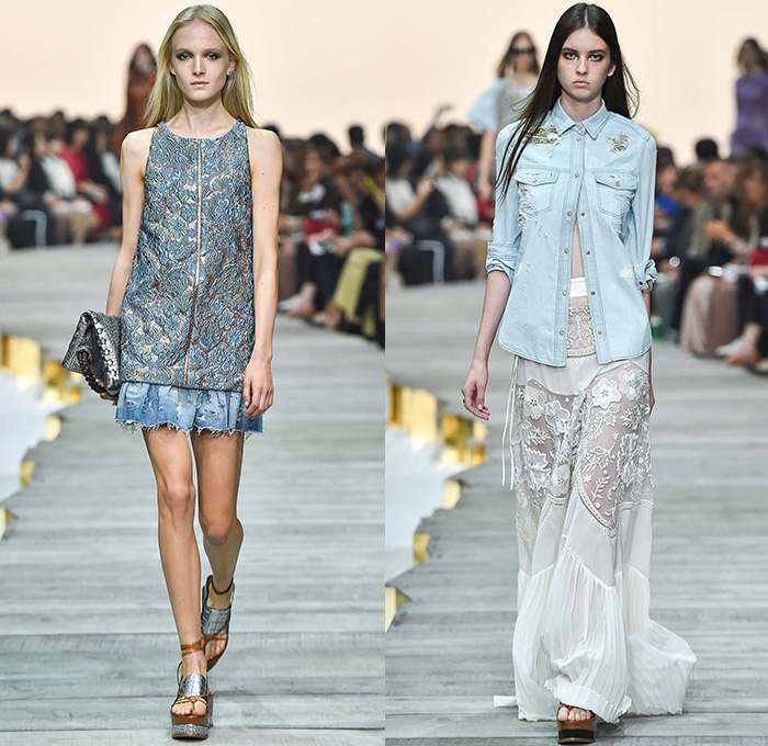 Roberto cavalli 2015 spring summer womens runway denim for Fashion design milano