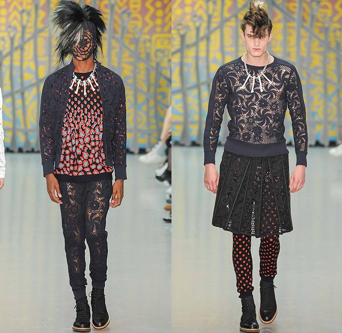 Sibling 2015 Spring Summer Mens Runway Looks Denim Jeans Fashion Week Runway Catwalks Fashion