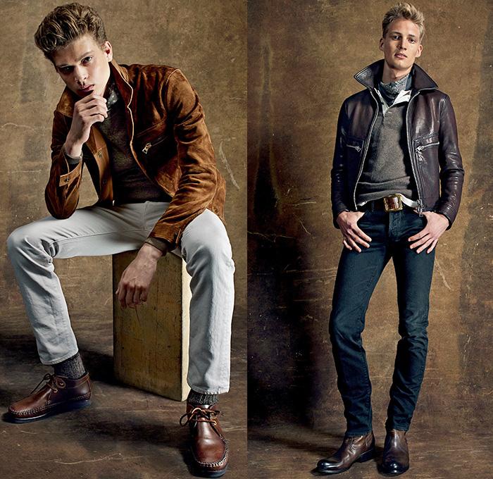 Waxed Denim Jeans Mens
